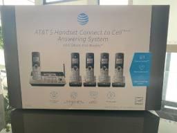 Telefone sem fio AT&T 5 Ramais com Secretária Eletrônica Bluetooth
