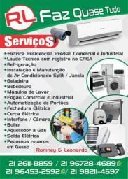 Instalação de ar condicionado , Manutenção ,elétrica , hidráulica  etc