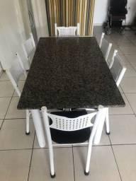 Mesa + 6 cadeiras (ENTREGO)