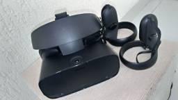 Oculus Rift S com máscara higiênica.