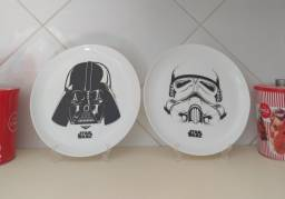 Pratos decorativos Star Wars