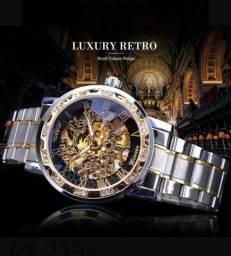 Relógio Winner Automático Engrenagem Luxo