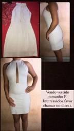 Vestido Branco de Festa Tamanho P