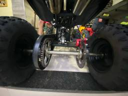 Mini quadriciclo 49cc a gasolina usado poucas vezes!!! Estado de novo