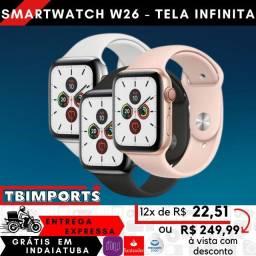 Relogio smartwatch inteligente Iwo w26 troca pulseira - Entrega gratis em indaiatuba