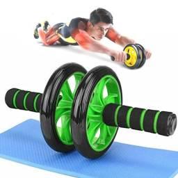 Rolo Roda P/ Exercicios Abdominal Lombar Exercise Wheel + Apoio Para os Joelhos.