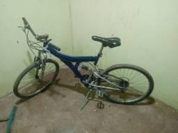 Bicicleta de amortecedor no meio
