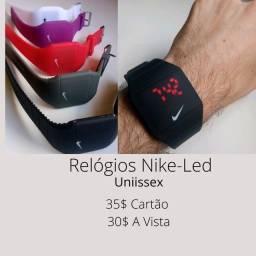 Relógio Nike Digital de Led - Diversas Cores -  a pronta entrega