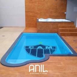 Título do anúncio: JA - Promoção piscina nova! Piscina de fibra 4 metros