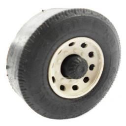 Jogo Contendo 200 Rodas Plásticas 6cm P/ Brinquedo Caminhão Carreta Miniatura Ônibus