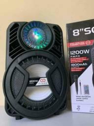 Caixa de Som 1200W ALP 805 C/ Bluetooth e Microfone ?