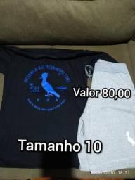 Conjunto moletom + camisa algodão marcas variadas