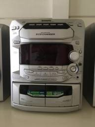 Panasonic cd stereo system 5 cds