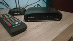 Conversor digital gravador de pendrive e antena