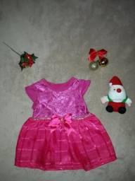 Vestido de festa novo bebê menina natal