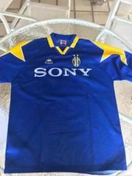 Camiseta de Futebol Juventus Azul f0fdfc1797281
