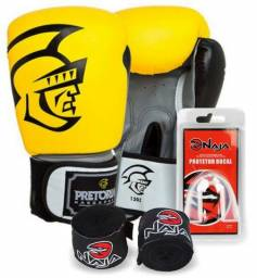 5f3081518 Kit Luva Boxe e Muay Thai Elite Training Pretorian