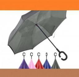 De Fabrica Guarda-Chuva Sombrinha Invertido Cinza