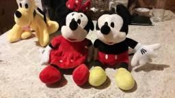 Mickey e minnie mouse de pelúcia 25 cm novo imperdível