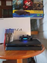 Playstation 4 de 1tera  6 Jogos seminovo