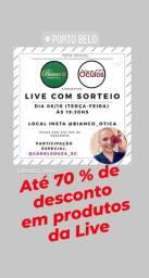 Live com Relógios, Óculos, 70% desconto!