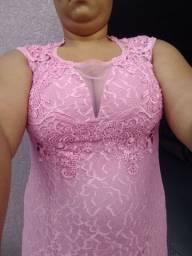 Vendo vestido novo sem uso tamanho 48 tom rose nunca foi usado