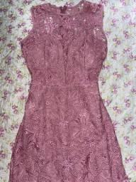 Vestido longo de festa (cor rosa chá)