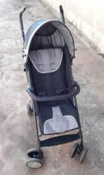 Carrinho de bebe cosco umbrella ride guarda chuva preto (Seminovo)