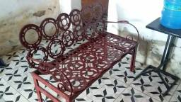 Sofá artesanal de ferro