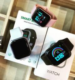 Smartwatch Y68 Novo Original (Preto ou Rosa)