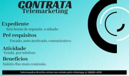 Vaga telemarketing