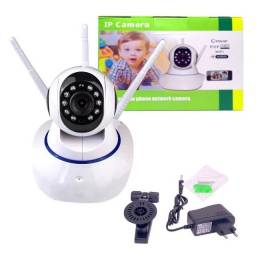 Camera Ip Wifi Robo 3 Antenas 360° Sistema App Yoosee/yyp2p