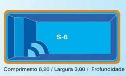 Piscina de fibra (( 6,20x3 )) 1,40 de profundidade
