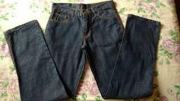 Calça Jeans Reta Azul - Tamanho 36