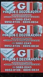Forro Pvc divisória porta sanfonada