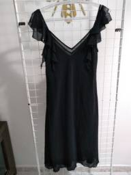 Vestido tecido crepe