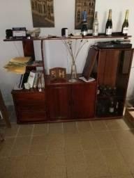 Rack/estante  pra tv com porta de vidro
