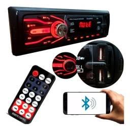 Rádio Automotivo Mp3 Bluetooth USB Fm Sd Controle