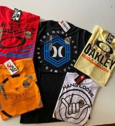 Kit 5 camisas multimarcas, top promoção