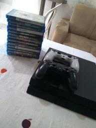 PS4 + 2 controles + 13 jogos