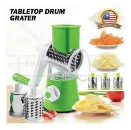 Ralador, Cortador e Fatiador de Legumes e Verduras Tabletop Drum Grater ?:
