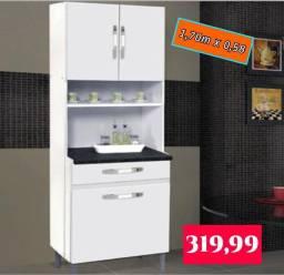 Armário de cozinha 3 portas e 1 gaveta. Entrega e montagem grátis em Macaé .