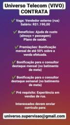 VAGAS PARA VENDEDOR DE RUA