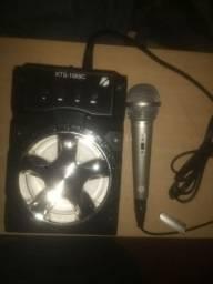 Caixinha Bluetooth com microfone