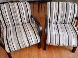 2 poltronas + 2 cadeiras alumínio