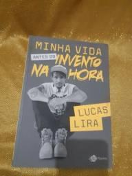 """Livro """"Minha vida antes do invento na hora"""" do Youtuber Lucas Lira"""