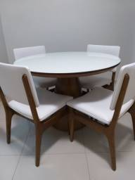 Mesa de jantar redonda 1,10m