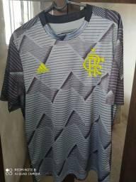 Camisa Adidas Flamengo Pré Jogo 2019 Chumbo<br><br>