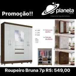 Roupeiro Bruna 7p super oferta