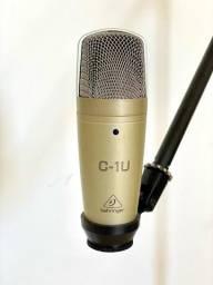 Kit Microfone Condensador Behringer C-1U c/ Tripé